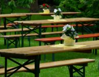 Beer Tent Set Benches Dining Tables  - congerdesign / Pixabay